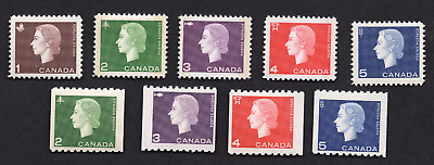Canada #401 to 409 Complete Queen Elizabeth Cameo Portrait Issue MNH