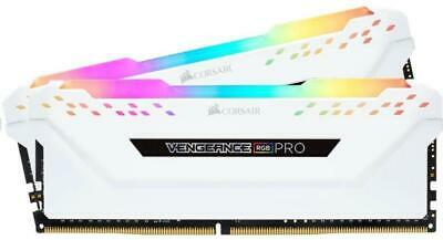 Corsair Vengeance RGB PRO 16GB (2x8GB) 3200MHz DDR4 RAM (White) Voltage: 1.35V