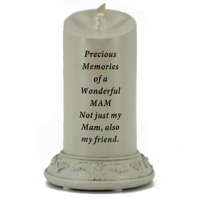 Special Mam Solar Powered Memorial Graveside Candle with Verse