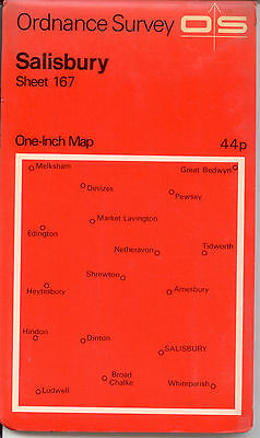 "1971 Ordnance Survey map, Salisbury, 1"" = One mile, sheet 167"
