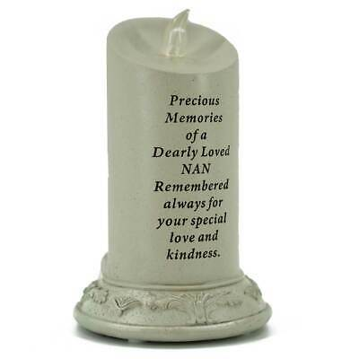 Special Nan Solar Powered Memorial Graveside Candle with Verse