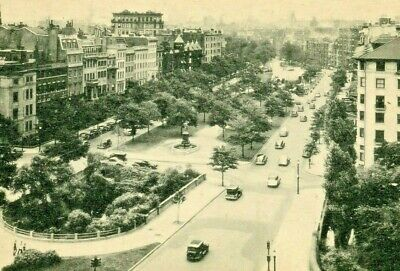 Postcard Early View of Commonwealth Avenue in Boston, MA.     S1