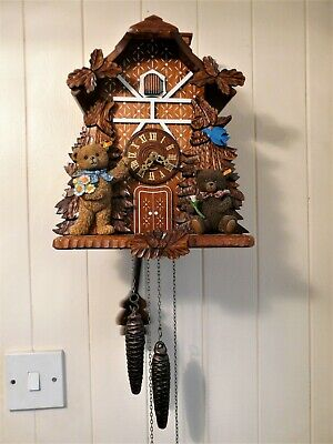 Black Forest Cuckoo Clock By Danbury Mint The First Steiff  Collectors Clock