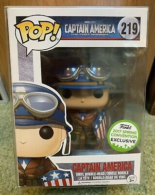 Funko Pop #219 Captain America Vaulted + Free Protector 2017 Spring Convention!!
