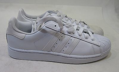 best service dc3f4 f975b ADIDAS SUPERSTAR FOUNDATION Mens B27136 White Leather Shell Toe Shoes Size  10