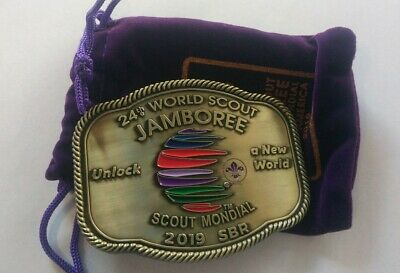24th 2019 World Scout Jamboree official buckle. Limited number of 2500