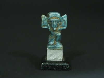 Egyptian Faience Amulet of Shu (664-332BC). Ancient Artifact Antiquities