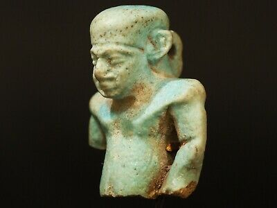 (664-332BC) Egyptian Faience Amulet Young Prince.  Ancient Artifact Antiquities