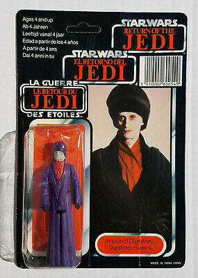 Star Wars IMPERIAL DIGNITARY Figure TRI LOGO Vintage Carded MOC Clipper Palitoy
