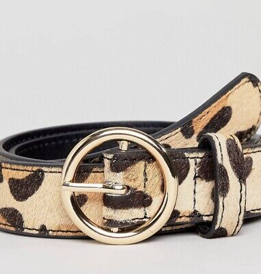 Warehouse Leopart Print Belt