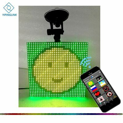 Full Color Wireless Bluetooth App Control Car LED display Emoji smiley face