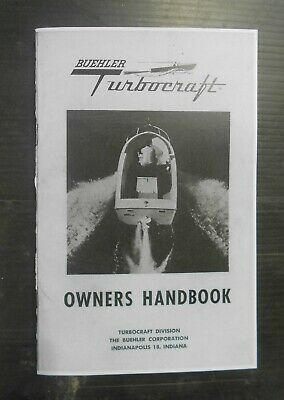 1960 Buehler Turbocraft / Hamilton Jet Owners Manual -  24 Page Reproduction