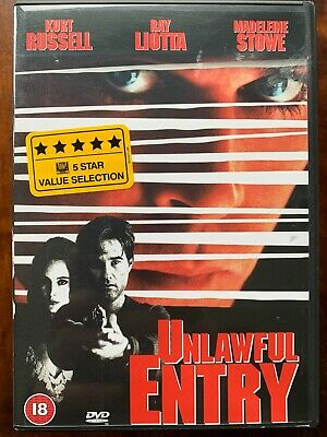 Unlawful Entry DVD 1992 Psycho Cop Thriller with Kurt Russell and Ray Liotta