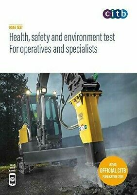 NEW CITB 2019 CSCS Card Test Book Health Safety & Environment for Operatives