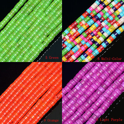 """Multi-Color Turquoise  Heishi Beads 16"""" 4mm 6mm 8mm 10mm"""