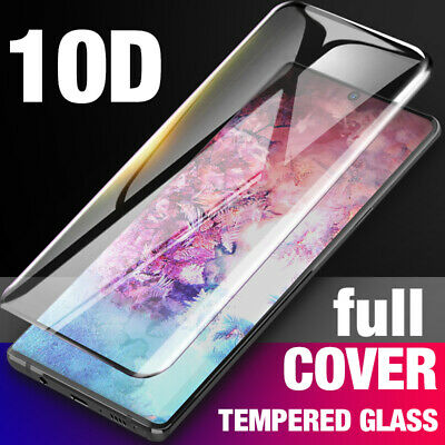 For Samsung Galaxy Note 10 Plus Full Cover Tempered Glass Screen Protector AU AN
