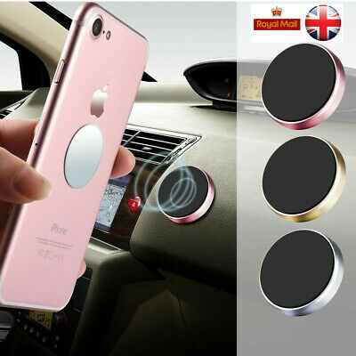 In Car  Magnetic Phone Holder Fits Dashboard Universal Mount Various Colors