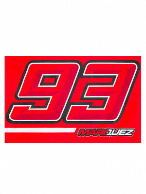 Flagge MM93 Marc Marquez 93 Flag MotoGP Official Racing Apparel Fahne rot red