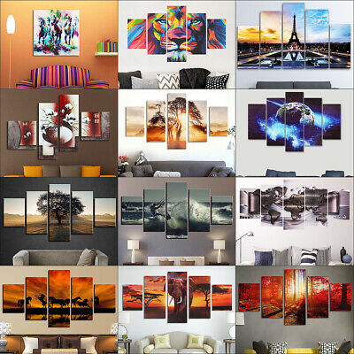 Large Canvas Modern Wall Art Oil Painting Picture Print Unframed Home Decor US
