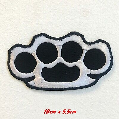 Knuckle Punch Fight Badge Embroidered Iron on Sew on Patch #1719