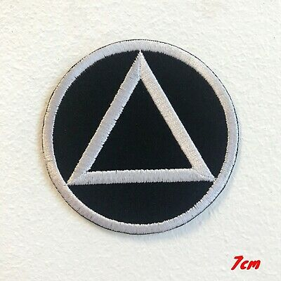 Sobriety Triangle Circle Badge Embroidered Iron on Sew on Patch #1757