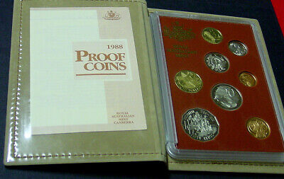 1988 Australian Proof set complete with packaging and certificate.