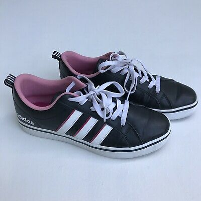WOMENS ADIDAS NEO Label Size 10 pink white gray sneakers