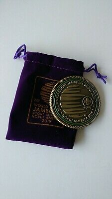 2019 World Scout Jamboree official buckle.