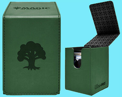 ULTRA PRO MTG MATTE GREEN ALCOVE MANA FOREST FLIP DECK BOX Card Storage Case