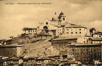 ANCONA -PANORAMA PARCIALE con CATTEDRALE- 1929.