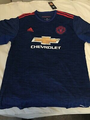 buy online e1c4a bb226 MANCHESTER UNITED 2018/2019 Men's XXL Adidas THIRD KIT Blue Away Shirt With  Tags