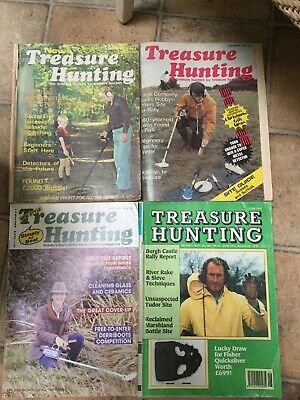 4 x TREASURE HUNTING magazines from 1977, 1978, 1985 and 1993 VINTAGE AND RARE
