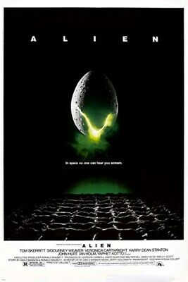 1979 sci-fi ALIEN MOVIE POSTER scary EXTRA TERRESTRIAL 24X36 collectors