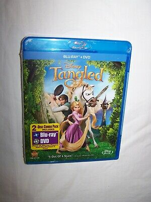 Tangled (Blu-ray/DVD 2011, 2-Disc Set) Animation; New/Sealed