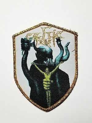 CELTIC FROST  shield gold border WOVEN  PATCH