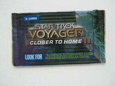 Star Trek Voyager Closer To Home Empty Trading Card Wrapper