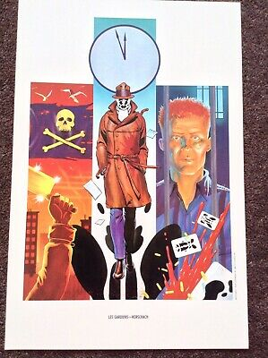 Watchmen PRINT Art Rare Vintage 1986 DC Comic Fantasy French Cover Rorschach HTF