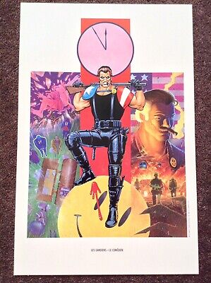 Watchmen PRINT Art Rare Vintage 1986 DC Comic Fantasy French Cover The Comedian