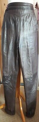 Vintage Soft Brown Two Tone Spanish Leather Ladies Trousers Munper