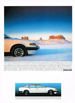 1984 Rover 2600 S (NL, 1pg.) Advertisement 4629