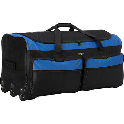 "Travelers Club Luggage 36"" Triple Wheeled Rolling Travel Duffel NEW"