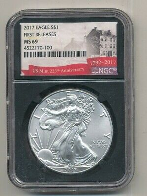 2017 American Silver Eagle 1 oz NGC MS 69 First Releases Exact Shown