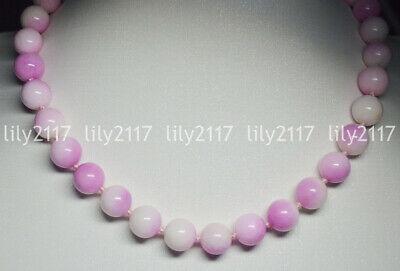 Natural 6mm pink Multi-Color Kunzite Round Gemstone Beads Necklace 18''
