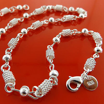 Necklace Chain Real 925 Sterling Silver S/F Solid Ladies Antique Filigree Link