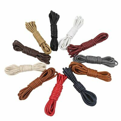 Round Waxed Shoelaces for Shoes Round Dress Shoes Boots Leather Shoe Laces A1