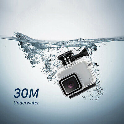 Waterproof Housing Case Diving Protective Cover for Gopro Hero 7 Silver/White