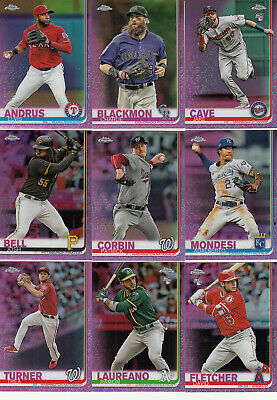 2019 Topps Chrome Parallel Refractor Pink JAKE CAVE RC #161 Twins