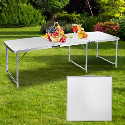 Heavy Duty Folding Table Portable Plastic Camping Garden Party Trestle Dining UK