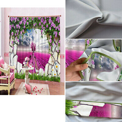 Lavender Thermal Blackout Curtains Ready Made Eyelet Curtains - Energy Saving