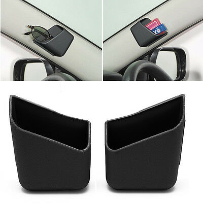 2X Universal Car Auto Accessories Glasses Organizer Black Storage Box Holder
